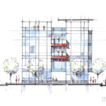 Macknight Architects - Amos, Expansion Elevation