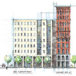 MacknightArchitects-MerchantsCommons-EastElevationStudy