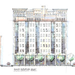 MacknightArchitects-MerchantsCommons-SouthElevationStudy